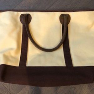 RH Canvas Tote w/Leather handles in EUC